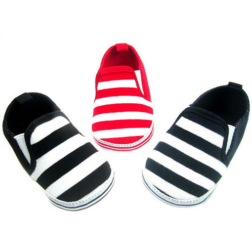 Soft Touch Red Stripe Infant Shoes