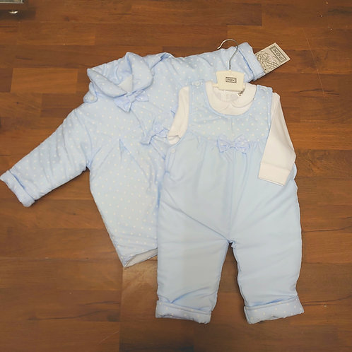 PEX 3pce Padded Dungaree Set
