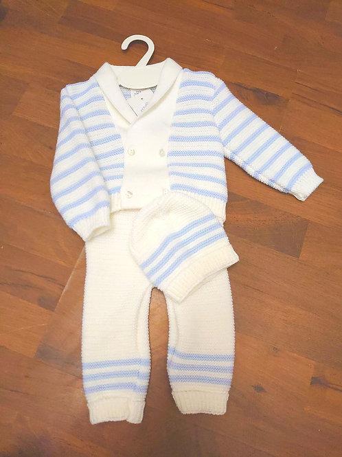 Ninas Y Ninos 3pce Knitted Set White