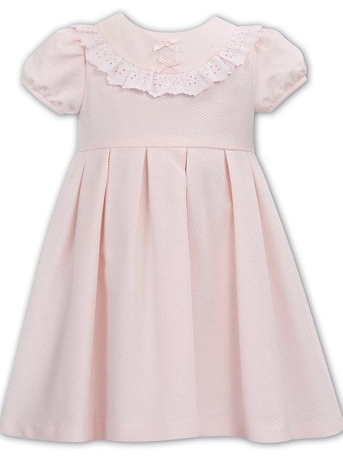 Dani Pink & White Waffle Dress