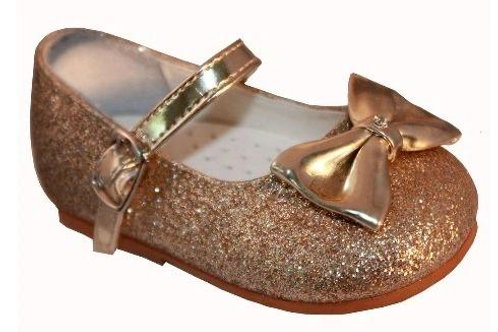 Sveva Millie Gold Shoes