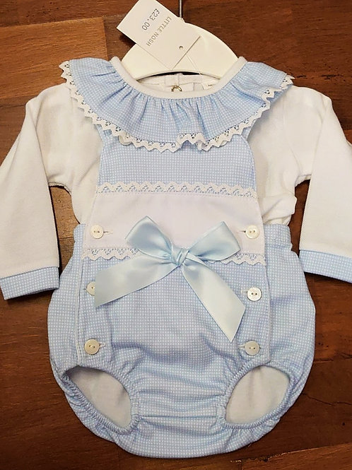 Little Nosh Bibbed Romper Set
