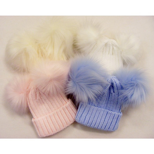 Kinder double Pom Pom hat