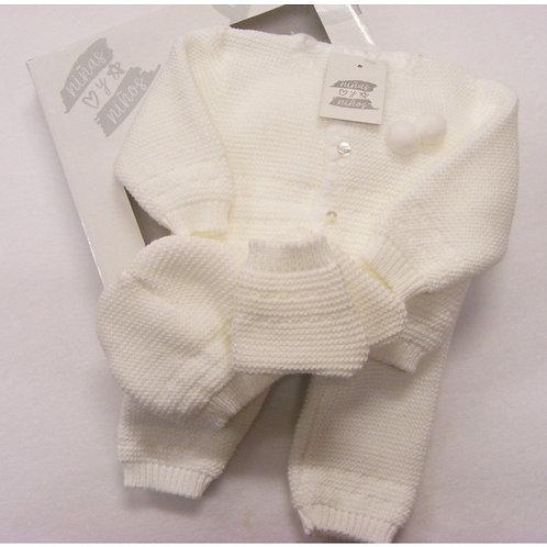 Spanish white knit set