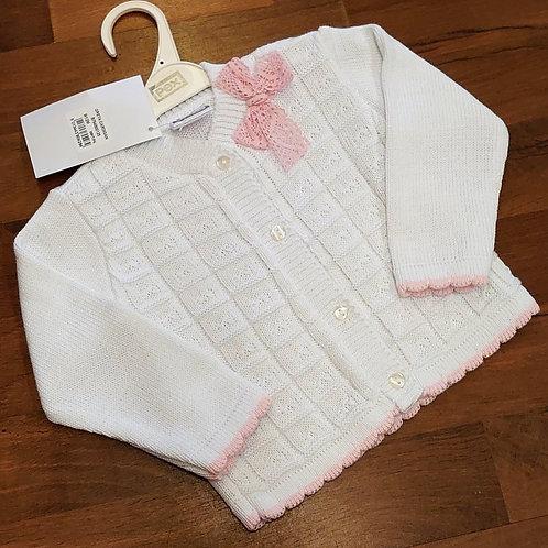 Pex White Knitted Cardigan