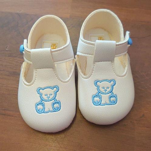 Baypods Teddy White Pram Shoes