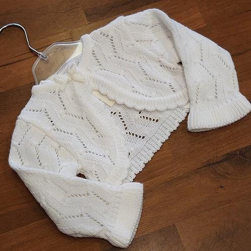 ZipZap White Bolero Style Cardigan