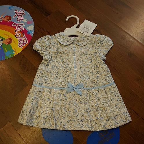 Alber Blue Ditsy Dress