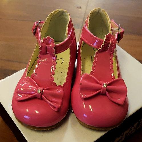 Sevva Sally Cerise T-Bar Shoes