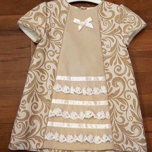 Alber A-Line Beige Dress