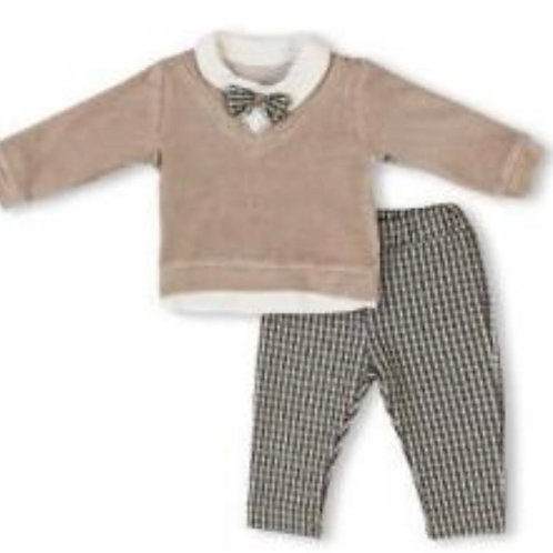 Visara jumper and checked trousers set