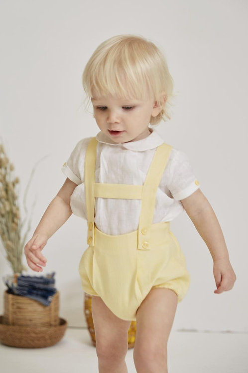 Martin Aranda Lemon H-Bar Shorts & Linen Shirt