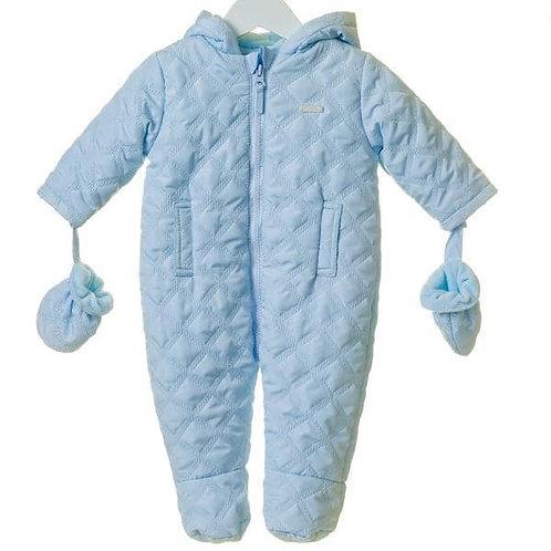 Baby blue snowsuit