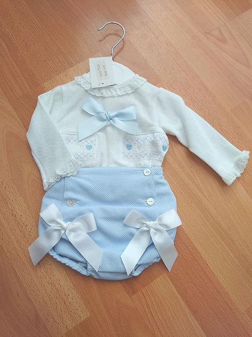 Little Nosh Blue Jam Pants Set