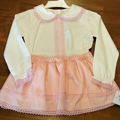 Little Nosh Pink Skirt & Blouse Set