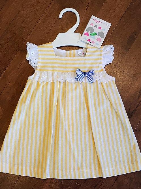Alber Yellow Stripe Dress