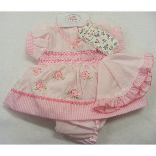 Sweet Elegance Rose Cotton Dress