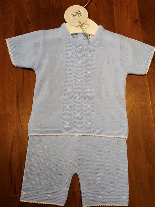 Bluesbaby Blue KnittedShort Set