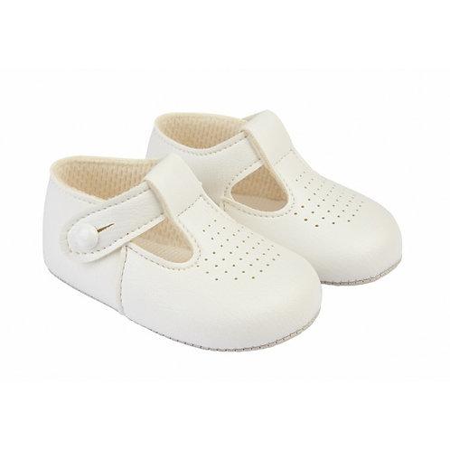 Baypods White Pram Shoes