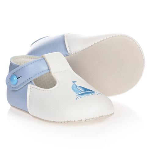 Baypods Boat Blue & White Pram Shoes
