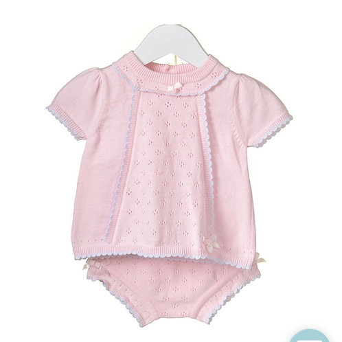 Knitted shorts set
