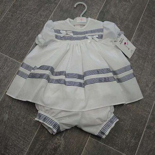 Scotia Originals Navy Stripe Dress & Bloomers