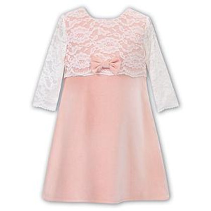 Sarah Louise Blush Lace Top Dress
