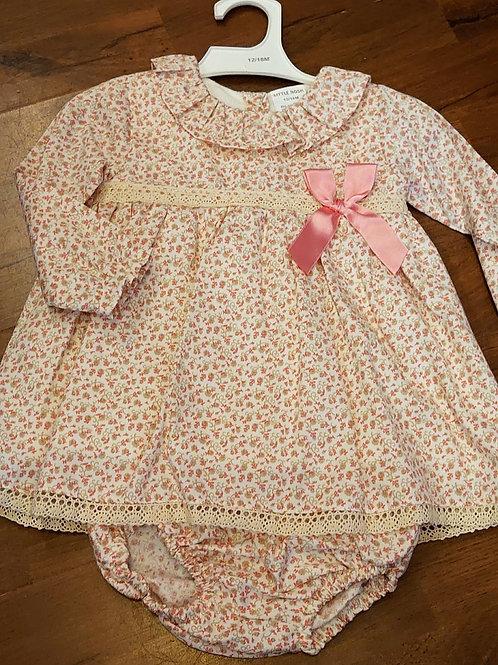 Little Nosh Ditsy Print Dress & Knickers