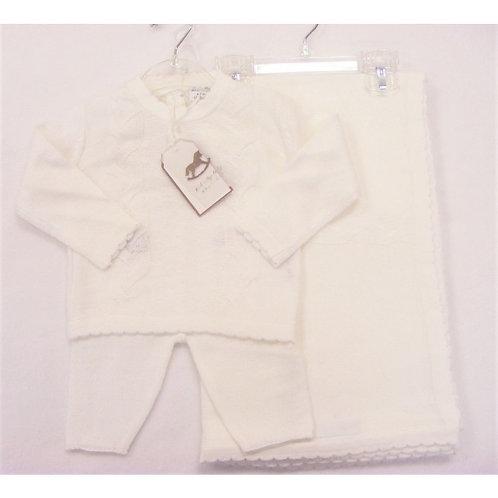 Rock a bye white knit set