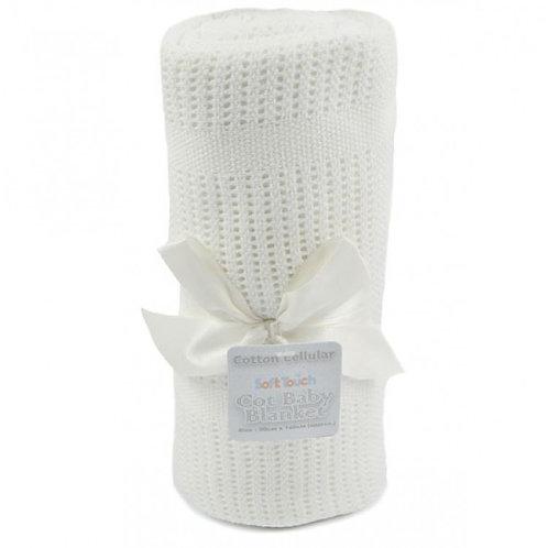 Cotton Cellular Pram Blanket