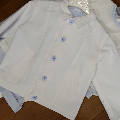 Dani White Cotton Jacket