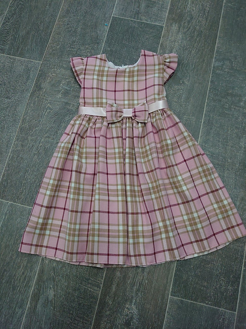 Pink Check Traditional Dress