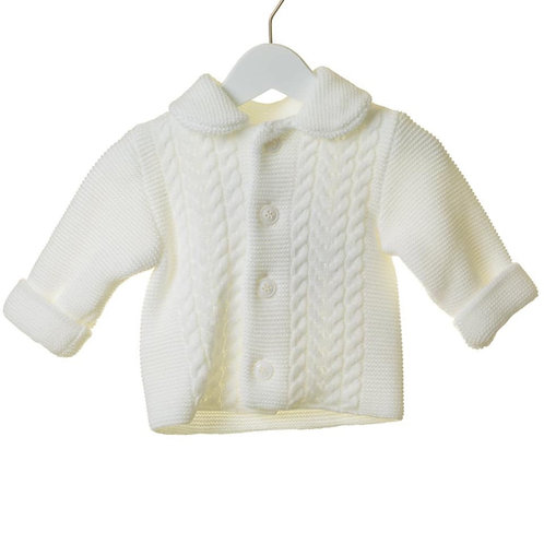 Bluesbaby Knit white jacket and hat set.