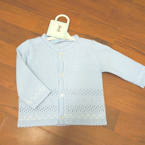 Pequilino Blue Knit Cardigan