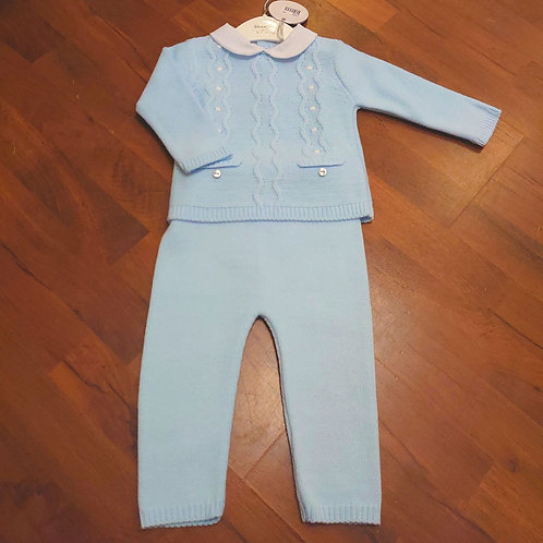 Bluesbaby Knitted Collared 2pce
