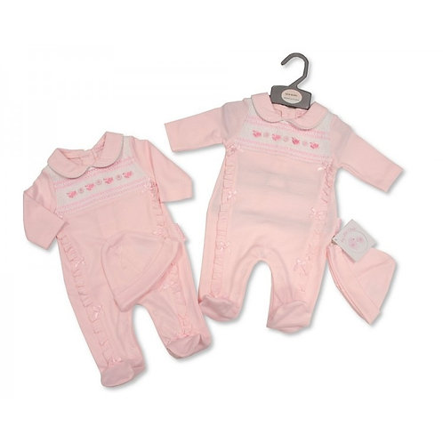 My little chic babygrow and hat set