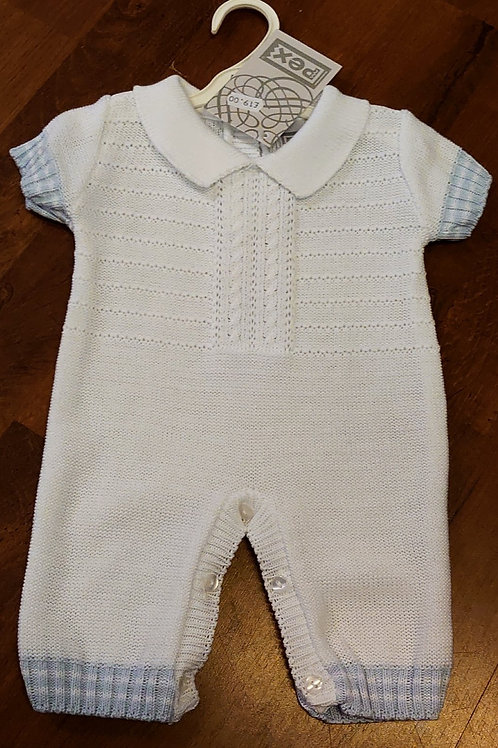 Pex Knitted Knitted Collar Romper