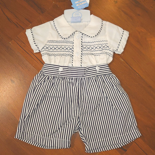 RockABye Traditional Smocked Short Set