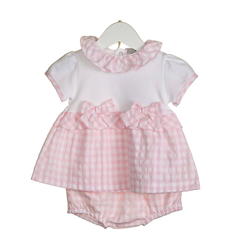 Bluesbaby gingham set