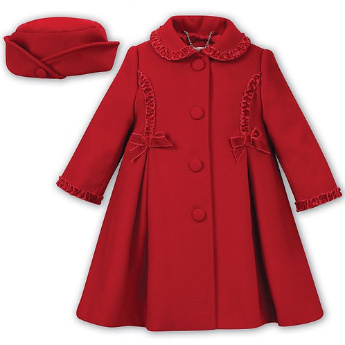 Sarah Louise red coat and beret