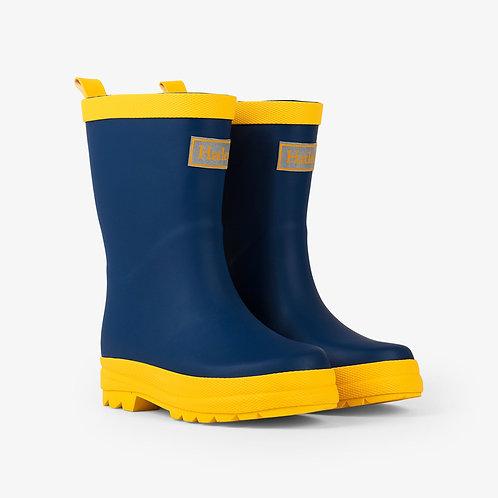 Hatley Navy & Yellow Wellies