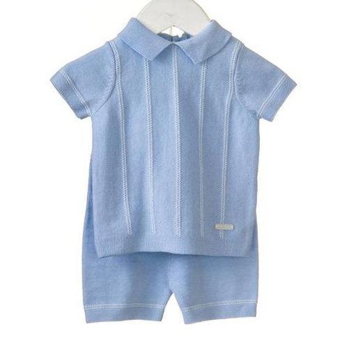 Bluesbaby Stripe Knitted 2 Pce