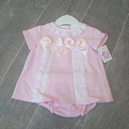 Little Nosh Pink Dress & Knickers