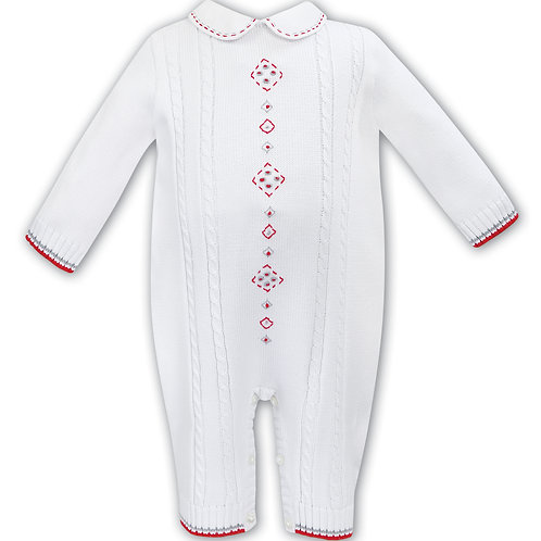Sarah Louise White Knitted All-In-One