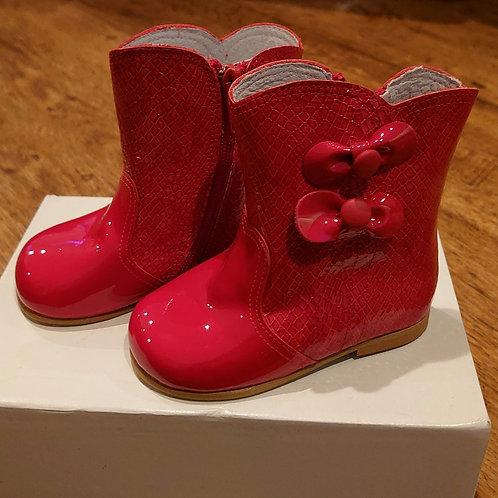 Pretty Originals Red Patent Snake Skin Boots