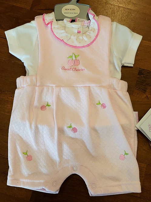 My Little Chick Cherry Dungaree Set
