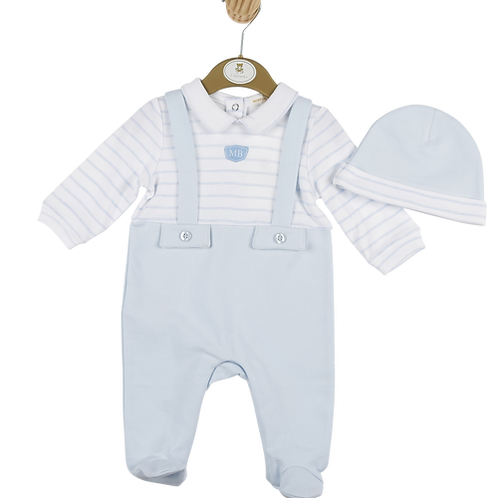 Mintini babygrow and hat set