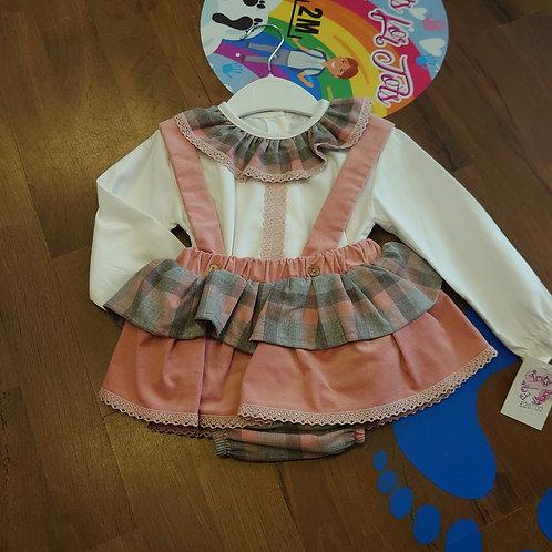Little Nosh Blush Slip Skirt Set