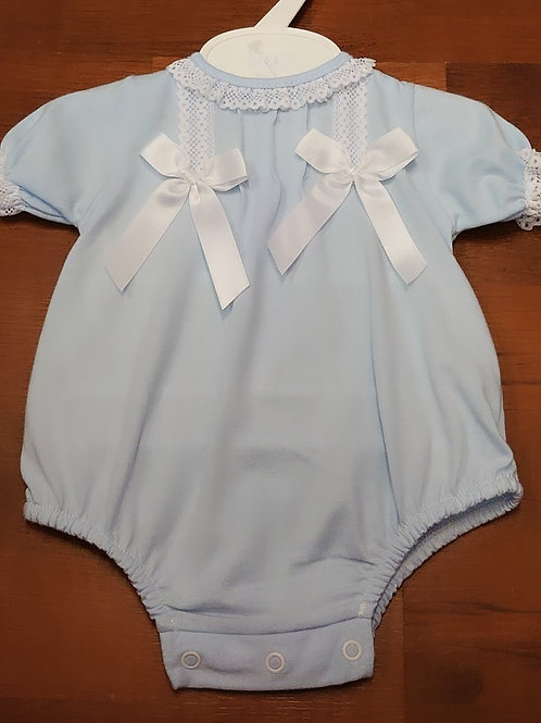 Little Nosh Baby Blue Romper