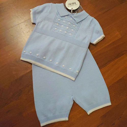 Bluesbaby Edged Knitted 2pce